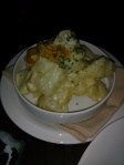 Side dish: Smashed Potato, Parmesan Cream, Crispy Garlic, Chive $6
